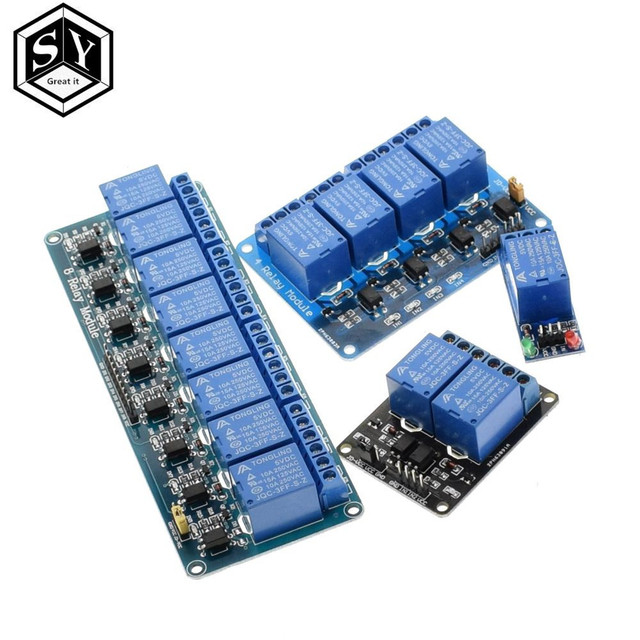 TZT 1pcs 5v 12v  24v 1 2 4 8 channel relay module with optocoupler. Relay Output 1 2 4 8 way relay module for arduino In stock