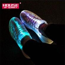 Размеры 26-48, летние светодиодные волоконно-оптические туфли для мальчиков и девочек, мужские и женские светящиеся кроссовки с зарядкой от USB, мужская обувь, светильник, спортивная обувь