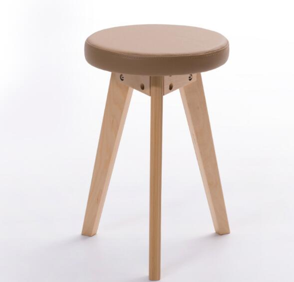 30*47cm Wooden coffee stool PU leather Stool Round stools 30*47cm Wooden coffee stool PU leather Stool Round stools