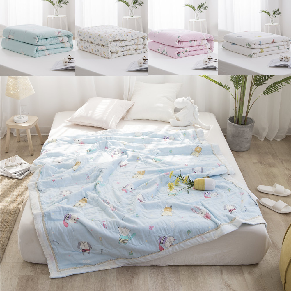 100% Cotton Cartoon White Jacquard Kid Newborn Baby Warm Bath Towel Throw Bed Sheet Cover Comft Summer Blanket For Children