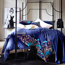 Blue Harry Potter hathaway Owls bird print bedding set queen king size bed cover Egyptian cotton home textile comforter sheets
