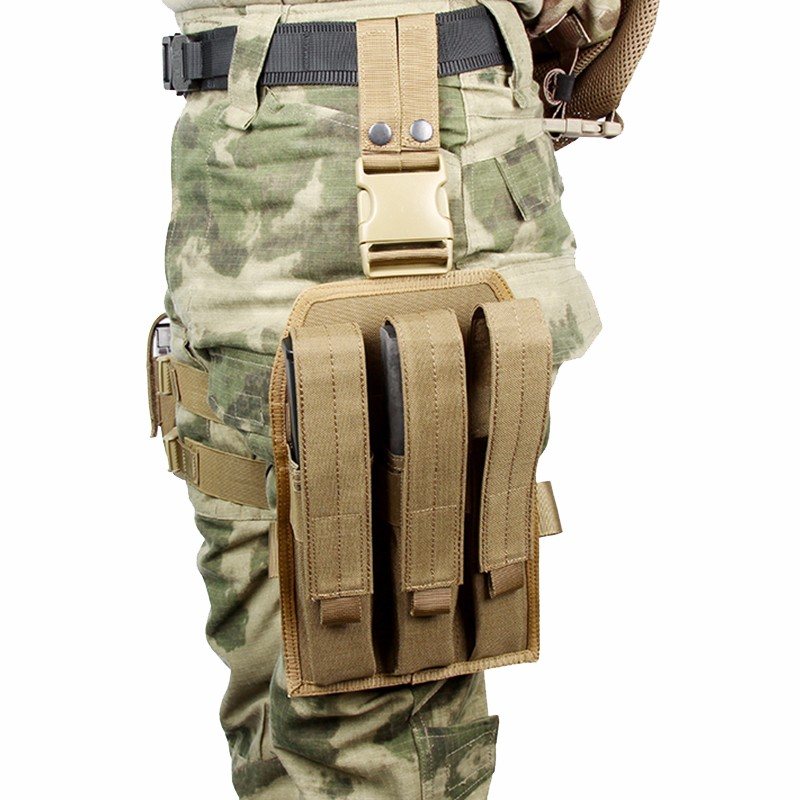 1000D Nylon Magazine for MP7 fast mag Tactical Pouch Drop Leg Rig,a stable platform in 3 tracks Base (3 SMR) CS War game Gear
