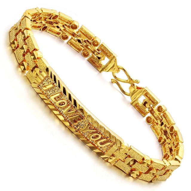 """English letter """"I LOVE YOU""""demi lovato vantage gold bracelets bangles  pulseras  jewelry from india statement jewelry"""
