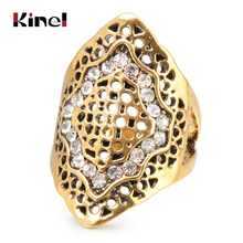 Kinel Unique Vintage Wedding Ring Antique Gold Boho Beach Party Crystal Midi Rings For Women Fashion Accessories 2019 New
