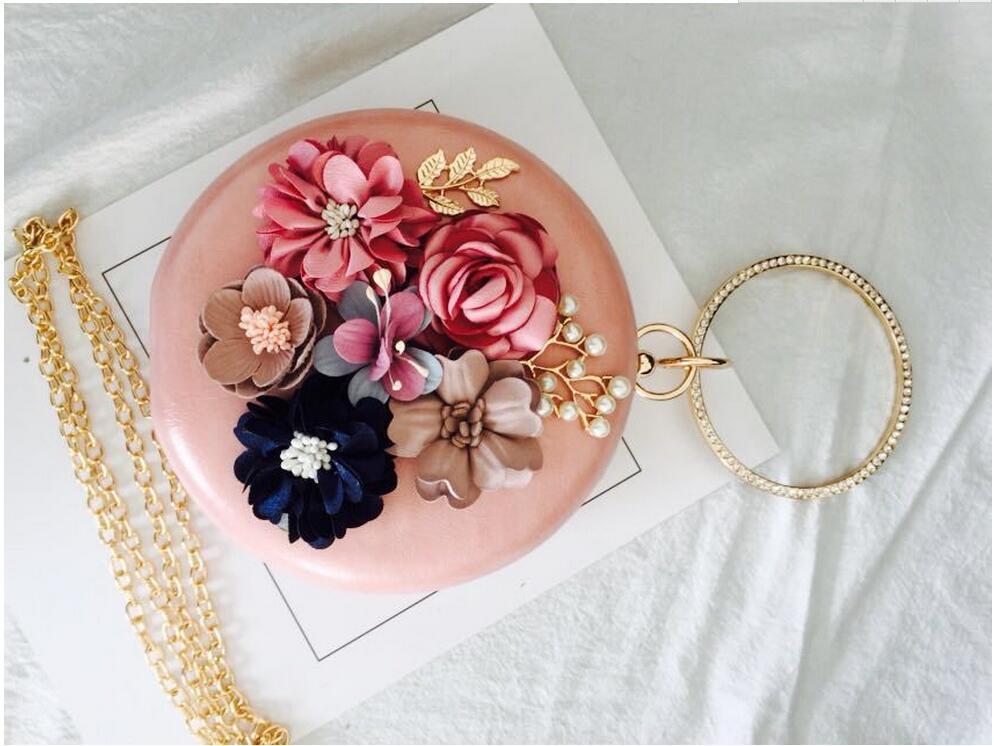 Meloke 2019 χειροποίητα λουλούδια βράδυ - Τσάντες - Φωτογραφία 5