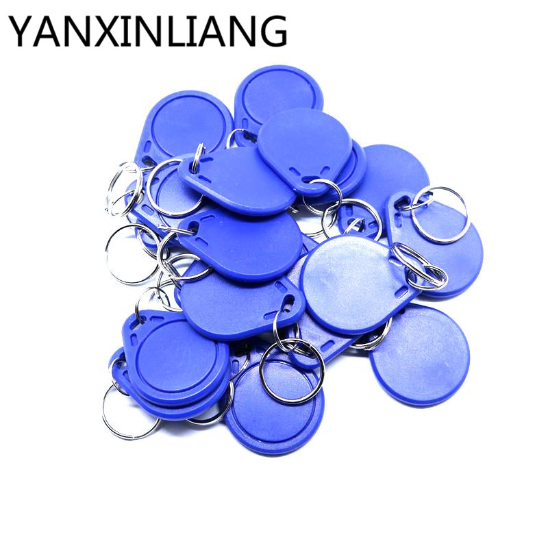 10pcs/lot <font><b>UID</b></font> Changeable NFC IC tag rfid keyfob token 1k S50 13.56MHz Writable <font><b>ISO14443A</b></font> image
