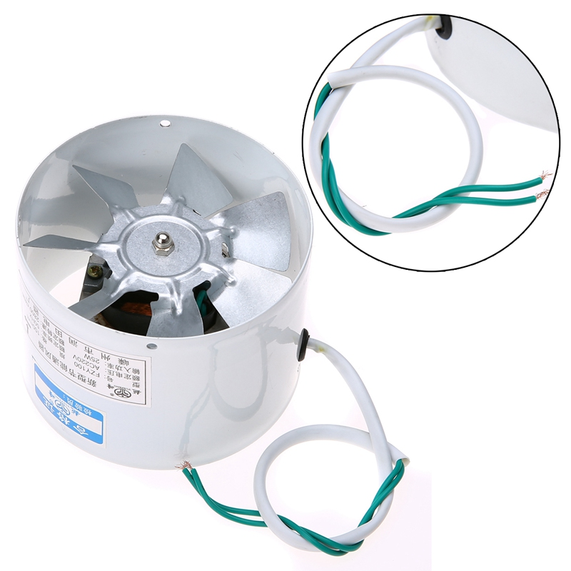 1PC 4'' Inline Air Filter Vent Fan Duct Fans Practical 2800R/Min Exhaust Blower Indoor Ventilation Fan Accessories Mayitr New good quality 6 inline 240cfm duct booster exhaust ventilation blower fan 15mm for grow tent room