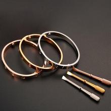 Отверткой бренды позолоченный любовь браслеты классический браслет нержавеющей стали дизайн из