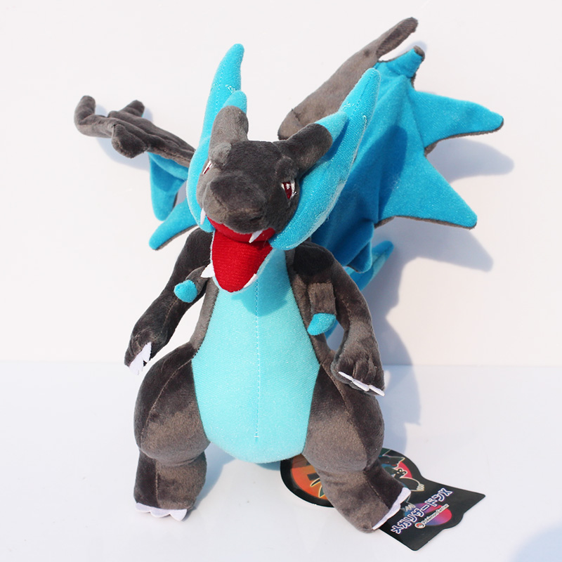 25cm Kawaii XY Mega Charizard Plush Toy Stuffed Doll With Tag Birthday Gift