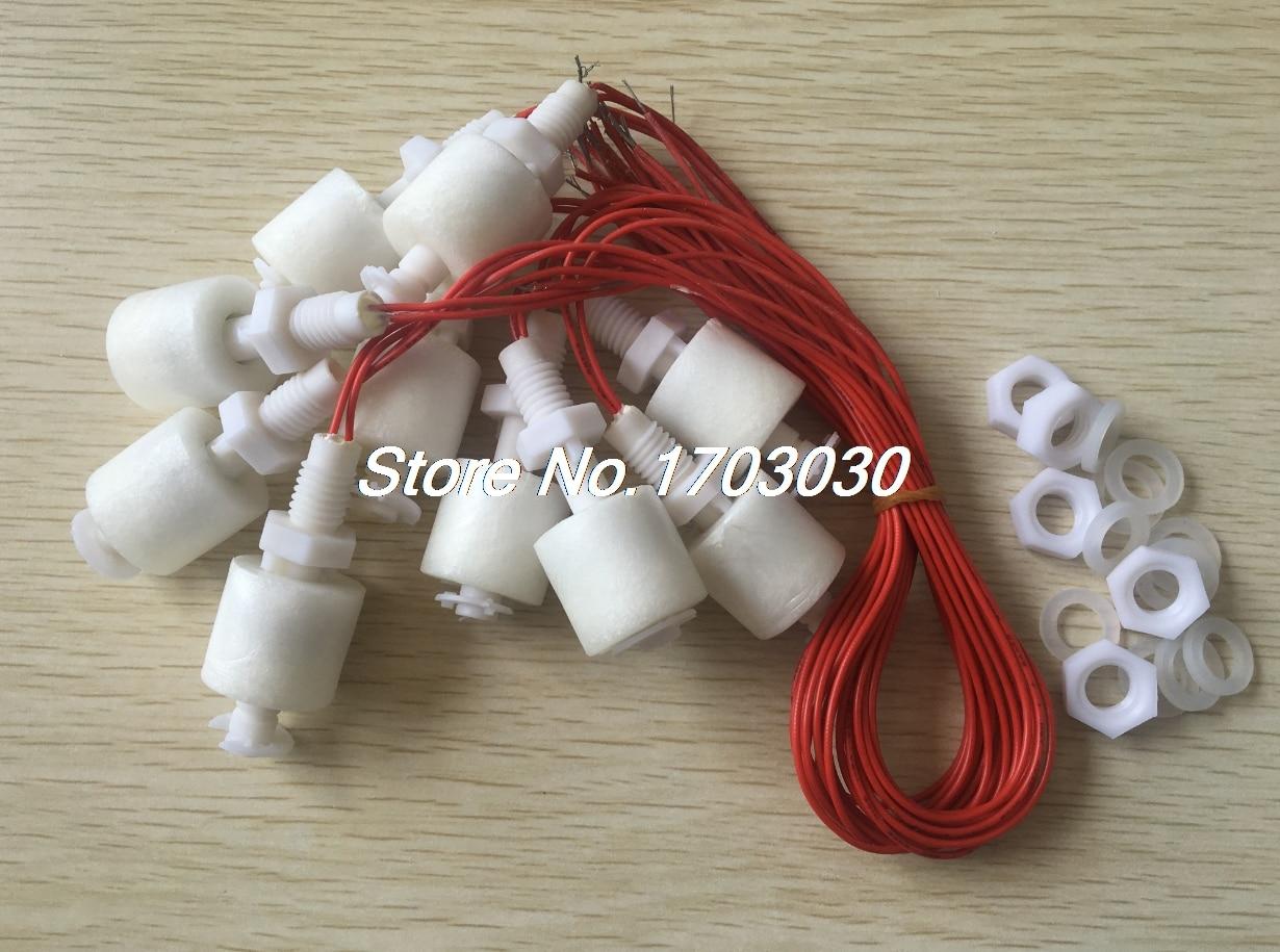 20 x ZP4510 capteur de niveau d'eau liquide en plastique blanc flotteur interrupteur flottant
