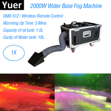 Light Music Stage Wedding Dj Equipments 2000W Water Base Fog Machine DMX Remote Control Low Lying Smoke Luces