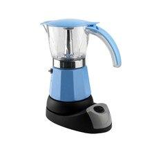 6 tazas de cartucho de filtro de material De Aluminio eléctrica Moka pot/Mocha café ollas herramientas de filtrado filtro cafetera en rojo y azul