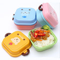 Hot!2 Layer Cartoon Rilakkuma cat Lunchbox Bento Lunch Box Food Container With Chopsticks Japanese Style Plastic Lunch box