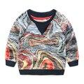 Camiseta de los muchachos ropa de bebé primavera y otoño bebé camiseta de los niños del ocio de los niños desgaste de la tapa