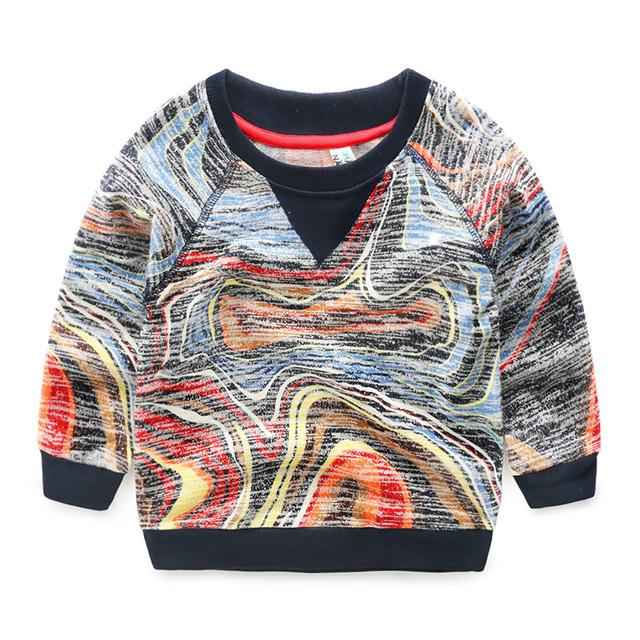 Meninos t-shirt do bebê roupas de primavera e outono do bebê camisola dos miúdos das crianças lazer desgaste topo