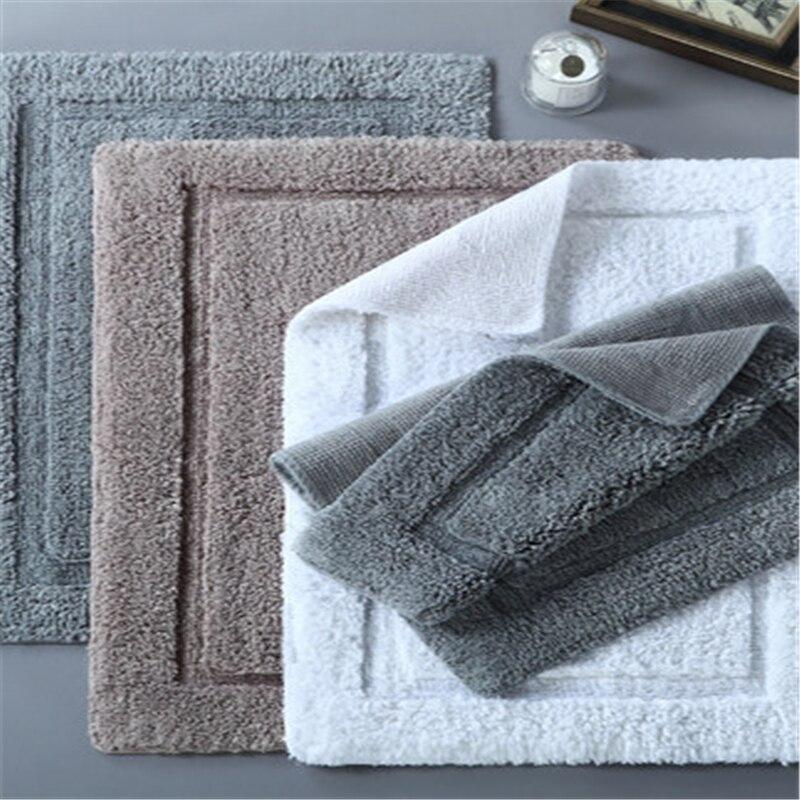 50*80 cm 8000g cinq étoiles hôtel coton salle de bain porte tapis coton maison cuisine salle de bains motif géométrique porte tapis