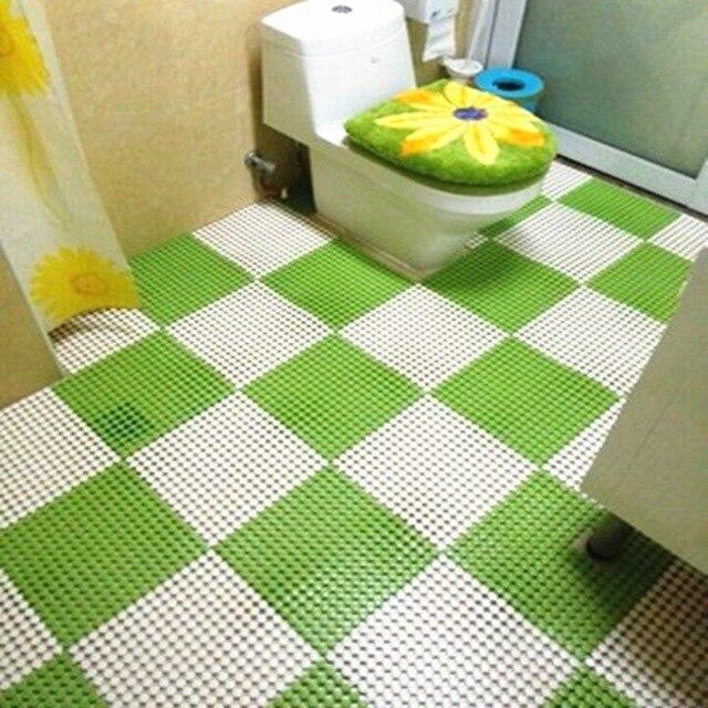 bathroom mat. Wholesale 9pcs lot 30 30cm Candy Color PVC Bathroom Mats Non Slip Bath
