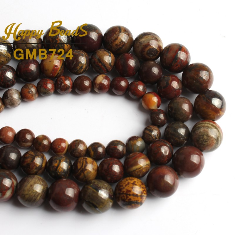 Natural Gemstone Stone Multi Color Tiger Eye Round Loose Spacer Beads 4//6//8//10mm