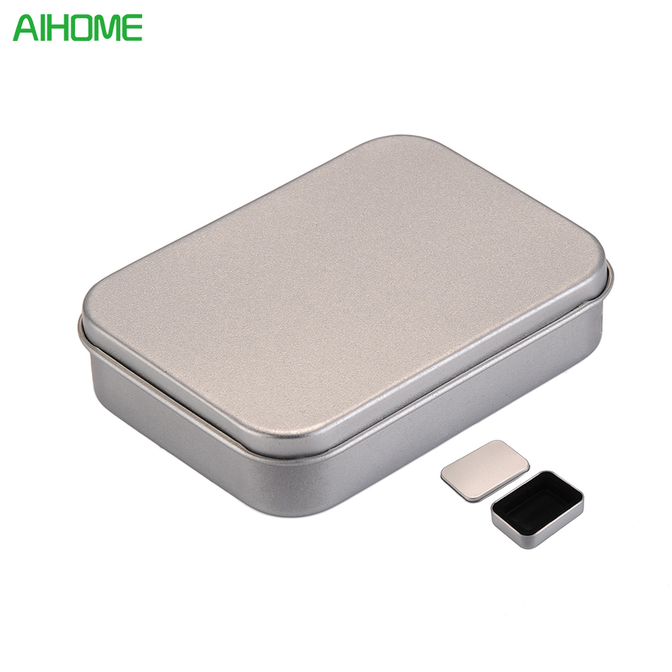 Tin Mailbox: New Luxurious Silver Metal Tin Box For Oil Lighter Gift