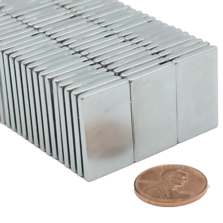 N42 NdFeB Block 25x15x2 mm Rectangle Strong Plate Neodymium Permanent Magnets Rare Earth Magnets NiCuNi Coated