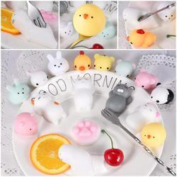 Mini juguete blando lindo Animal antiestrés bola exprimidor Mochi aumento juguete Abreact suave pegajoso blando alivio de estrés juguetes divertido regalo