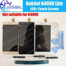 Oukitel K4000 לייט LCD תצוגה + מגע עצרת מסך 100% המקורי LCD Digitizer זכוכית לוח החלפה עבור Oukitel K4000 לייט