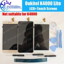 Oukitel K4000 لايت شاشة LCD + شاشة تعمل باللمس الجمعية 100% الأصلي LCD محول الأرقام زجاج لوحة استبدال ل Oukitel K4000 لايت