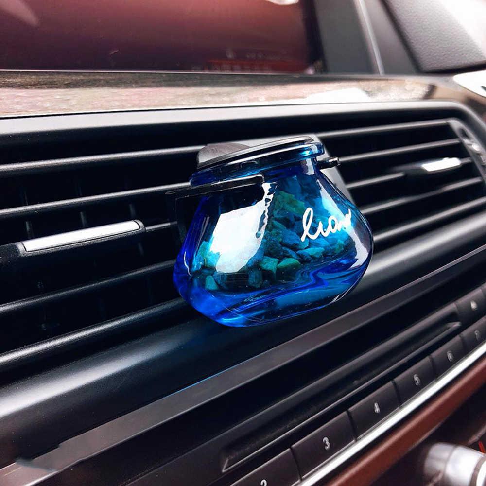 Clip de Perfume de coche zeolita olor fragancia aromatizador de ventilación de aire difusor Auto Interior salida Decoración Accesorios regalos