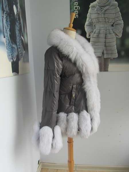 xhaketë e freskët e zonjës së dimrit të modës / parka popullore - Veshje për femra - Foto 3
