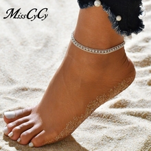 MissCyCy Multi-layer Sexy Crystal Anklet Foot Chain Summer Bracelet Charm  Anklets Beach Foot Wedding adf0eeecee7d