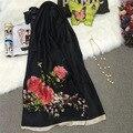 Китайский Стиль Пион Печати Хлопок Белье Осень Женщин Нового Прибытия Шаль Модный Бренд Шарфы Pashima Цветок Wrap Шарф