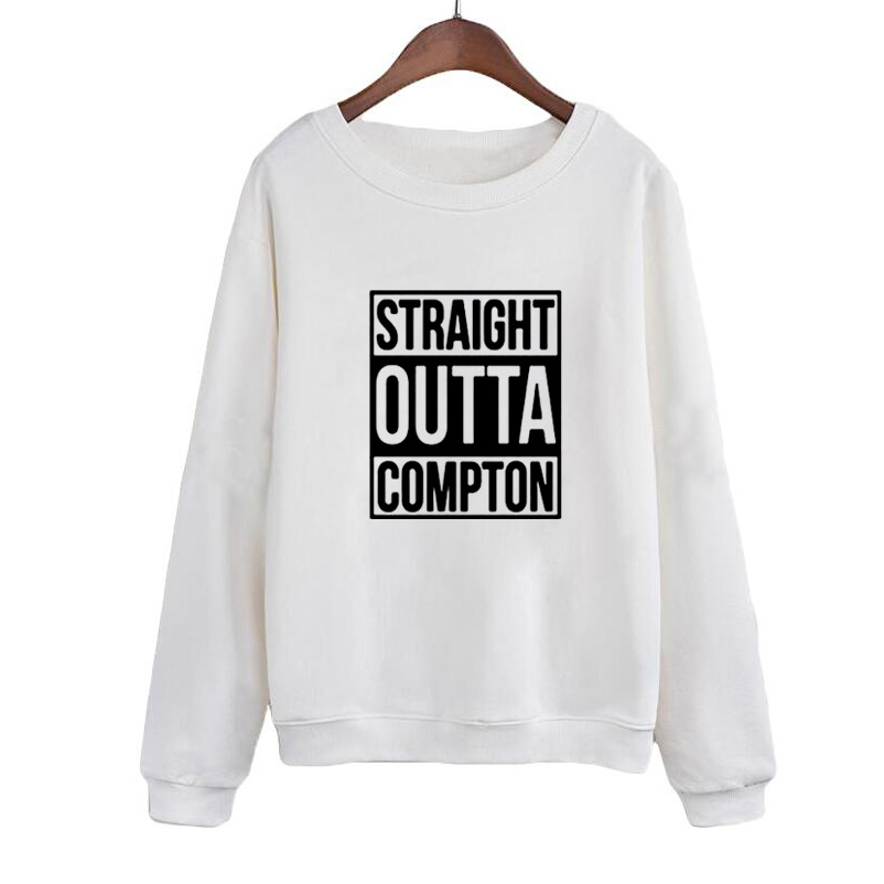 2019 Hoodies Letters Print Sweatshirt Women Autumn O neck Hoodies Tracksuit Women Straight Outta Compton Europe PopRap Style in Hoodies amp Sweatshirts from Women 39 s Clothing