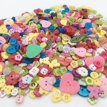 50 Gram Random Mix size  Resin Buttons Scrapbooking DIY Button Apparel Sewing Decorative