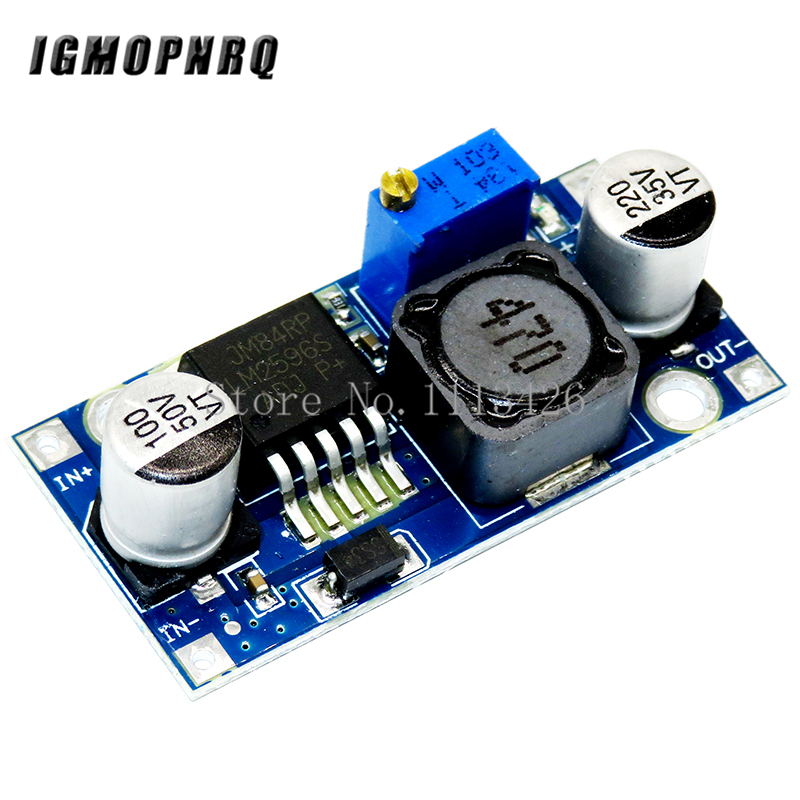 1pcs LM2596 LM2596S DC-DC 4.5-40V Adjustable Step-down Power Supply Module