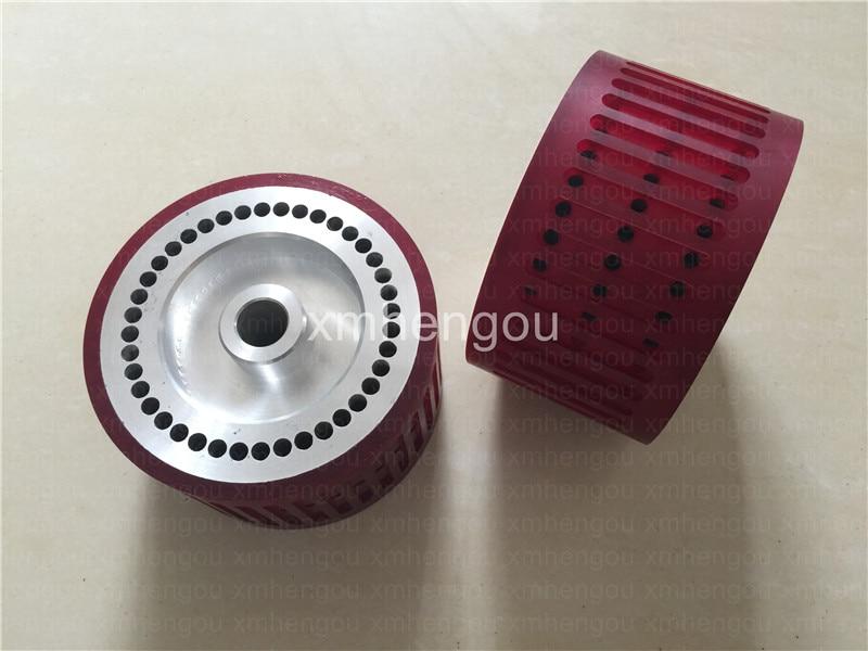 2 Pieces printing machinie parts Stahl folding Machine Suction Wheel FH 10066561 02 Size 124x18x70mm