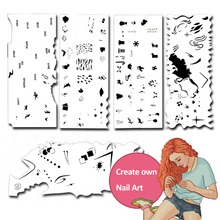 Фотография Custom Body Art Airbrush 3D Nail Art Stencil Set  with 5 Stencil Template Design Sheets (120 Designs)