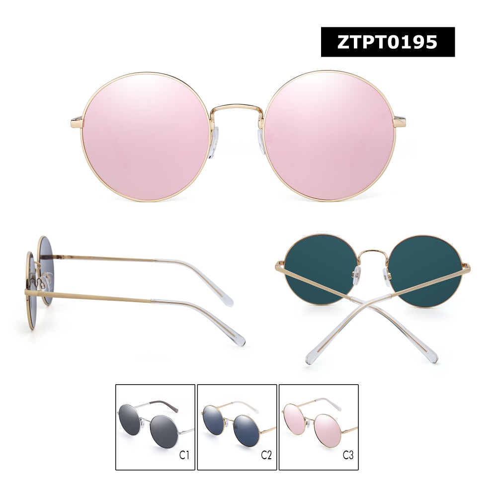 23d4bd743eb3 JM Vintage Retro Round Sunglasses Metal Flat Mirror Circle Stempunk  Eyeglasses Men Women Sun Glasses-in Sunglasses from Apparel Accessories on  ...