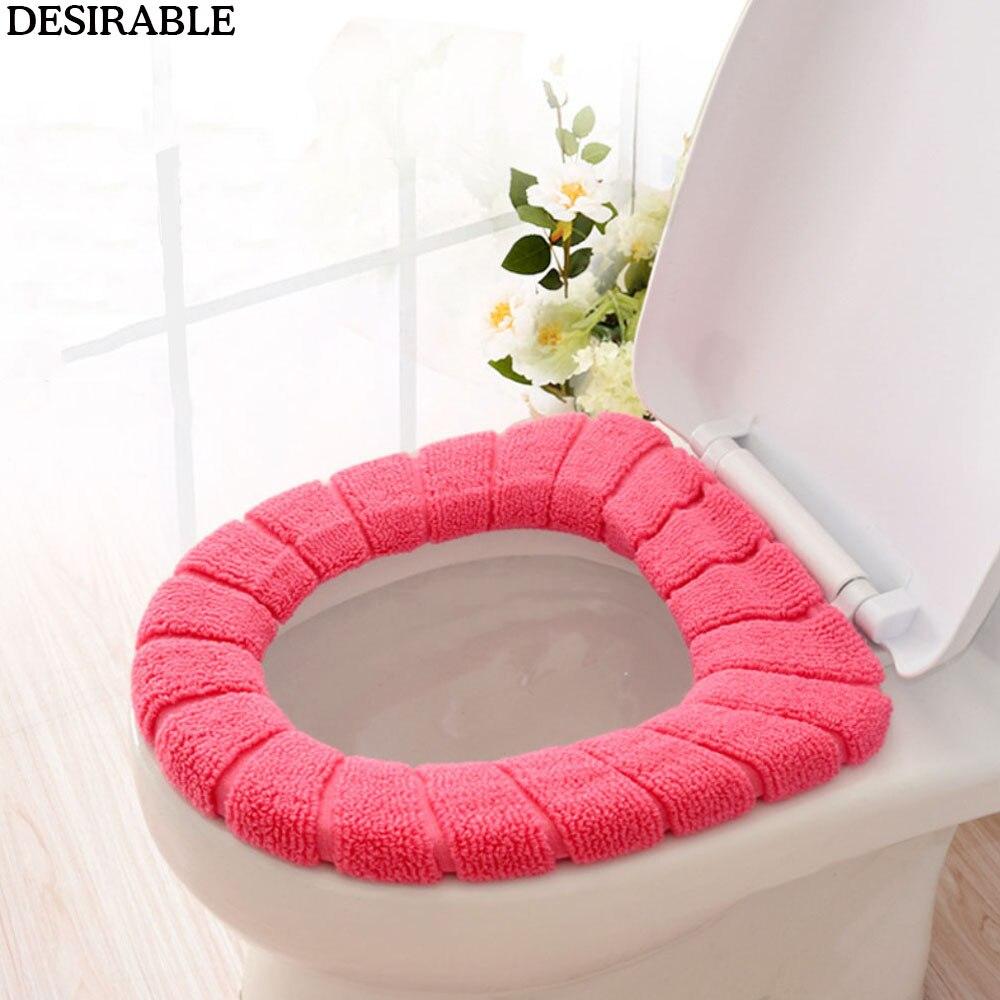 1 Pc Velvet Coral Bathroom Toilet Seat Cover Washable Closestool Standard Comfortable Pumpkin Pattern Soft Cushion,B Commercial Toilet Seats