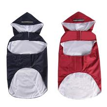 Waterproof Pet Raincoat Reflective Strip Clothes with Hooded Puppy Hoodies Coat Jacket For Medium Large Dogs 3XL-5XL