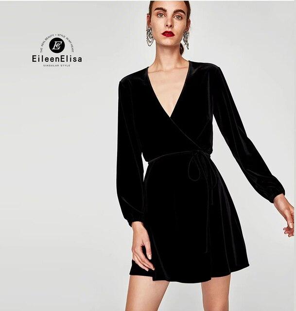 Schwarze langarmelige kleider