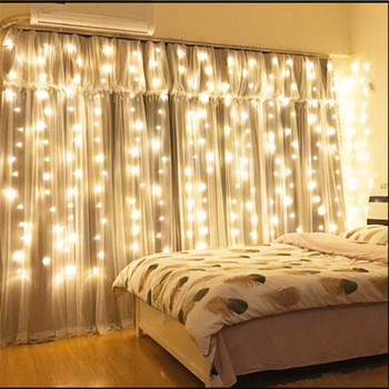 6*2.5m 480Led Curtain Fairy String Light Christmas Light Outdoor Home Garden Birthday Party Courtyard Wall Bedroom Decoration