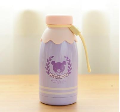 Kawaii Pequeno Urso Garrafa de Leite de 300 ml e 350 ml Frascos de Vácuo do Aço Inoxidável Copo Vazio Copo Térmico Isolamento Térmico Garrafas de bebê