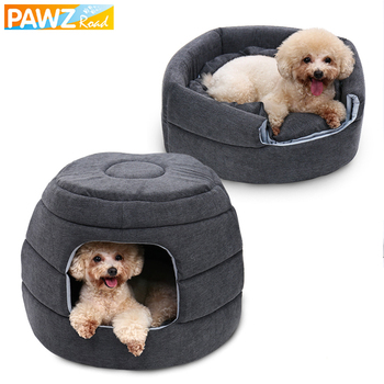 2 In 1 Pet Dog Beds Warm Pet House Luxury Dog Kennel Removable Sofa Cozy Puppy Cushion Cat House Collapsible Durable Dog Cat Mat image