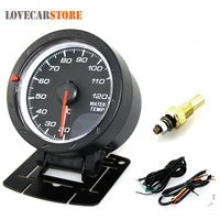Universal 2.5 Inch 60mm Auto Car Motor Gauge Water Temperature Temp Meter Black Shell with Red & White Lighting