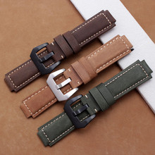 лучшая цена 24*16mm Handmade Genuine Leather Watch Band Strap Fit For Casio G Shock Replacement Black Waterproof Watchbands Accessories