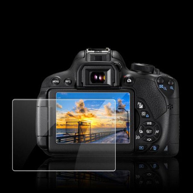 Tempered Glass Protector for Canon EOS 650D 70D 700D 750D 760D 77D 80D 800D DSLR Camera LCD Screen Protective Film Protection