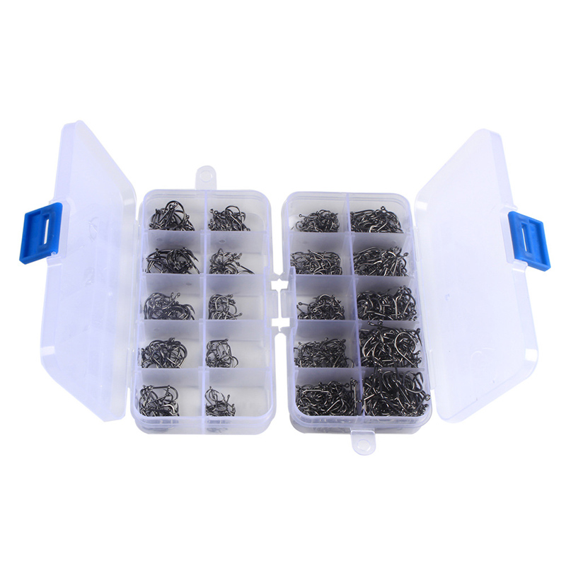 200 600pcs lots Size 3 12 Fishing Hook Jig Hooks with Hole Fly Fishing Tackle Box Carbon Steel Fishhooks Drop Shipping A105 in Fishhooks from Sports Entertainment