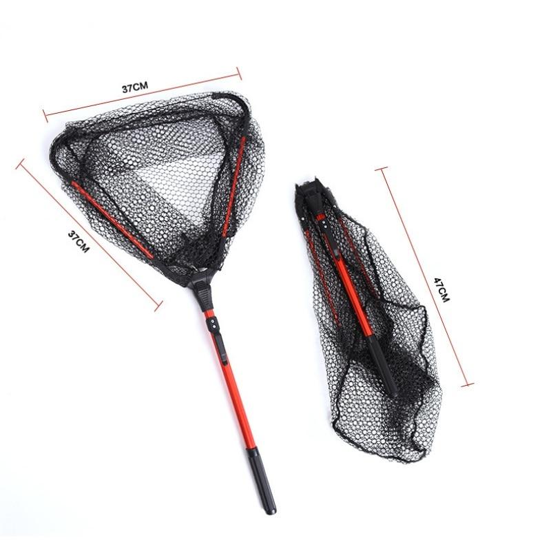 Practical Retractable Fishing Net Aluminum Alloy 80cm Telescoping Foldable Landing Net Pole Folding Landing Net For Fly Fishing
