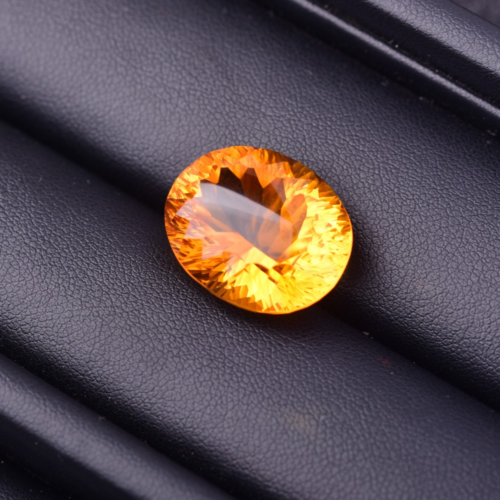 25.15ct Citrine 19.2*15.6*10.6mm Glittering and translucent Perfect quality gemstones
