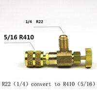 R22/R410 Kälte Lade Adapter Stecker Flüssigkeit Hinaus Zubehör Hause Kälte Werkzeug Für Sicherheit Ventil Service-in Klimaanlage Teile aus Haushaltsgeräte bei